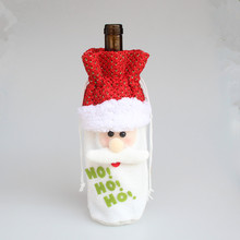 1pc Santa Claus Wine Bottle Cover Christmas Decorations Xmas Dinner Party Gift Bags Table Supplies For Home Decor YL880648