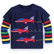 Boys Long Sleeve Tops 2017 Brand Autumn Clothing Baby Boy Sweatshirts Animal Pattern Children T shirts for Kids Boys Clothes(China)