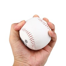 2Pcs Trainning BaseBall Softball Base Ball Leather White Outdoor Activity