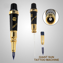 Free shipping G-9740 Giant sun permanent makeup tattoo machine kit Professional Tattoo gun For Eyebrow and Lip tattoo needle