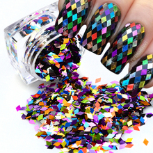 Rhombus Fashion Designs Nail Art Glitter Paillette Dazzling Mixed Colorful DIY Diamond Sticker Tips Decor Accessory ND296(China)