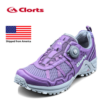Shipped From USA Clorts Women Running Shoes Lightweight BOA Lacing Outdoor Shoes Breathable Sport Running Sneakers 3F013(China)