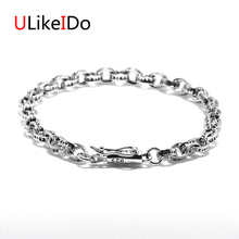 100% Pure 925 Sterling Silver Bracelets Fashion Domineering Punk Hand Chain For Men And Women Special Jewelry Charm Bracelet 036