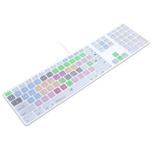 Avid Media Composer Hot keys Keyboard Cover Skin For Apple Keyboard with Numeric Keypad Wired USB for iMac G6 Desktop PC Wired