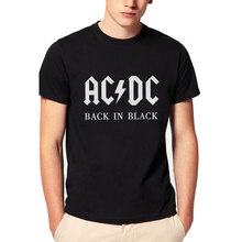 2016 New Camisetas AC/DC band rock T Shirt Mens acdc Graphic T-shirts Print O Neck Hip Hop Short Sleeve Casual Tshirt Plus Size