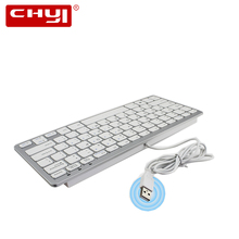 Super Thin Wired Keyboard Ultra thin Gaming Keyboard Wired gaming klavye for Desktop PC Android Windows ios Telecommuting Gaming(China)