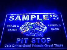DZ022- Name Personalized Custom Pit Stop Man Cave Bar Neon Beer Sign   hang sign home decor shop crafts