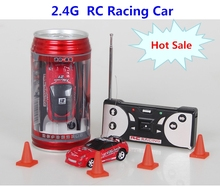 2017 Hot Sale Coke Can Mini RC Car Multi-color High Speed Truck Radio Remote Control Micro Racing Vehicle Control Electric Toys(China)