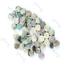 50 Pieces 6mm Colorful Abalone Inlay Material Dots Guitar Parts(China)