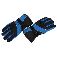 5Set Sale Men Ski Gloves Thermal Waterproof For Winter Outdoor Sports Snowboard (Sky Blue)(China)