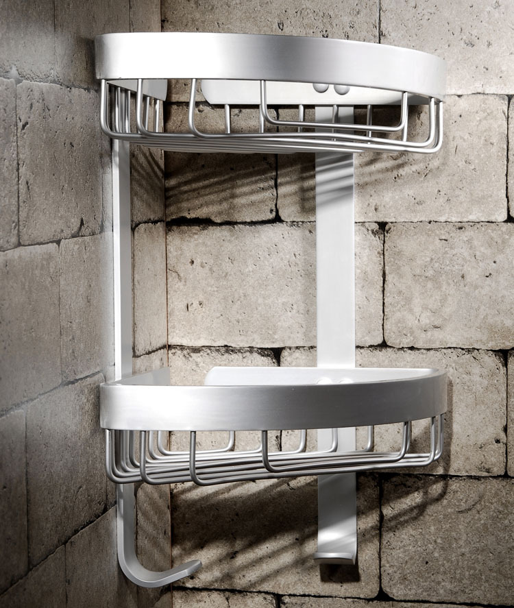 Corner Storage Rack Holder Shelves Bathroom Organizer Triangular Shower Shelf mj