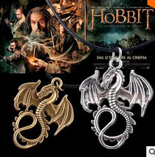 NEW The battle of the hobbit 2 Shi Mao leather four color Fire dragon necklace hobbit 2 battle movie necklace film necklace