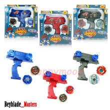 Beyblade + Launcher 2 Tops At Once Metal Fusion Fight Masters 4D Toy Set Dual