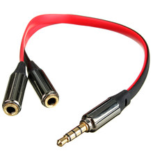 Best Durable 3.5mm Gold Male Jack to 2 Dual Female RCA Splitter Headphone Y Audio Adapter Extension Cable For Headset Earphones