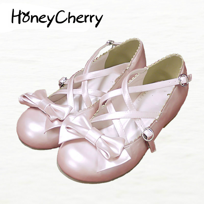 2016 New Spring Shoes Lolita Sweet Princess shoes Sequined Bow Low Cross Strap Merchandiser  Shoes Woman Flats<br>