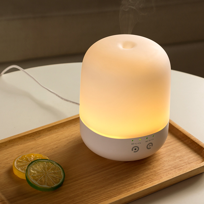 New 300ML Warm Light /Colorful Light Aromatherapy Humidifier 0 Radiation Household Aroma Diffuser Essential Oil Diffuser <br>