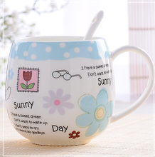 2017 Brand Mugs Lovely Design Milk Juice Lemon Mug Coffee Tea Cup Home Office Drinkware Unique Gift 410ml Cute Cup With Spoon(China)
