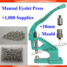 Metal Manual Grommet Press Machine+10mm Die Mould+1,000 Eyelet Supplies Making Banner Flag(China)