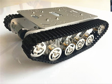 Metal Robot Tank Chassis silver for Caterpillar Suspension SINONING TS100 New Design for arduino SN2500 Diy Tracked Crawl