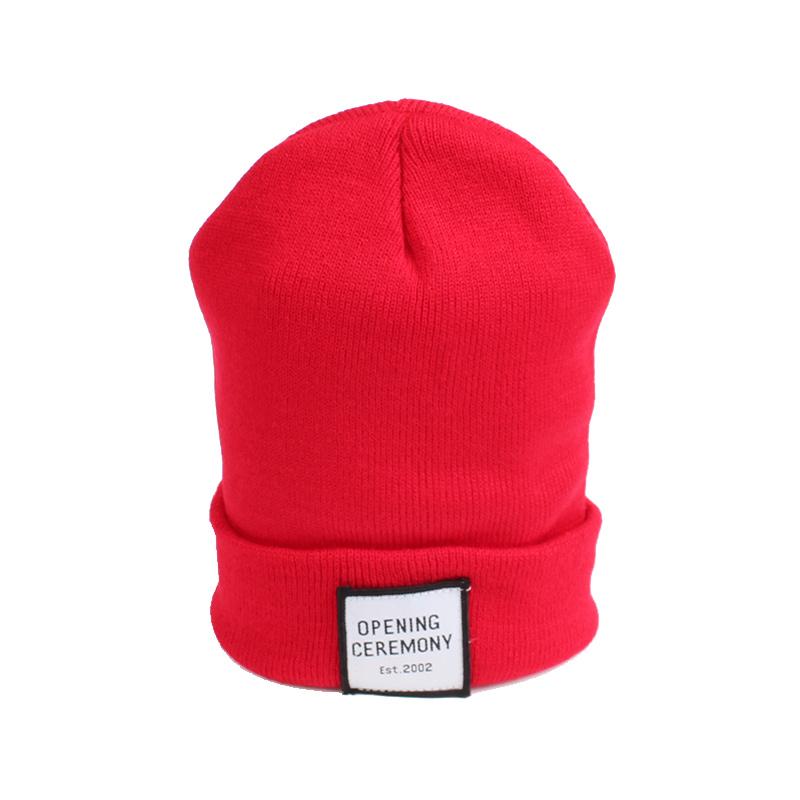 Knitted Cotton Women Beanie Hats Fashion OPENING CEREMONY Women Hats Autumn Winter Warm Female Hat Letter Hip Hop Women Skullies (6)