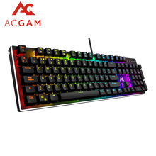 ACGAM 104 Keys gaming Mechanical Full Keyboard RGB Lighting Design Spanish Multilingual support with Backlight Anti-Ghosting(China)