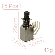 UXCELL Contact Type 5 Pcs X 6 Pin 2P2t Dpdt Momentary Pcb Push Button Switch Non Lock 2 No 2 Nc contact | momentary