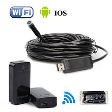 12mm 7M Endoscope Waterproof Inspection Camera USB For Windows XP/Vitsa+Wireless WIFI BOX For IOS And Android Free shipping