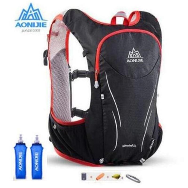 AONIJIE Outdoors Marathoner Race Adjustable Ultralight Running 5L Large Storage Hydration Vest Backpack<br>