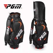 Top Quality PGM PU Golf Bag For Men Standard Bag Waterproof Golf club Bag Golf Training Equipments Only Black Color For Choice