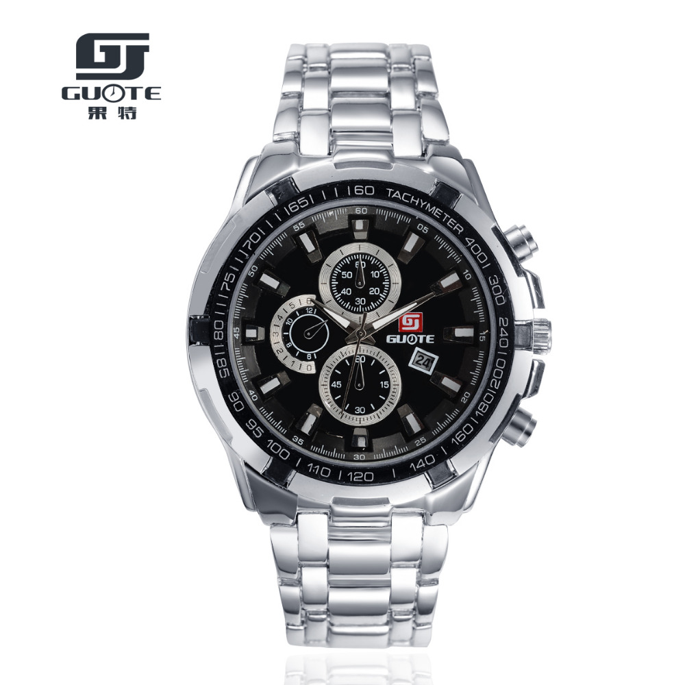 New Fashion Men Top Quality Casual Quartz Watch Men Luxury Brand Three Eyes Full Stainless Steel Watches Relogio Mascu Hot Clock<br><br>Aliexpress