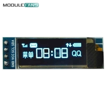 5PCS 0.91 Inch 128x32 IIC I2C Blue OLED LCD Display DIY Module SSD1306 Driver IC DC 3.3V 5V For Arduino PIC