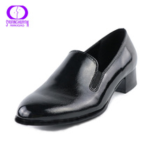 2017 New Fashion Medium Heel Woman Pumps Shoes Platform Simple Designer Pumps Shoes PU Leather Women Shoes Tacones Mujer