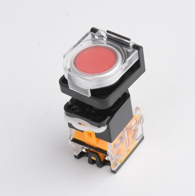 Interruptor de Botón Pulsador 22mm Cubierta Protectora Cubierta de protección Círculo Estación de control