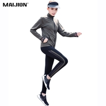 Buy MAIJION Women Running Yoga Sets 2 Pcs Sport Jacket & Pants Suit,Quick Dry Jogging Fitness Tracksuit Gym Workout Sportswear Sets for $24.74 in AliExpress store