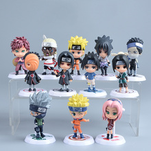 Naruto Figure Japanese Anime PVC 6pcs/set Collectible Action Figures Model Kids Mini Boys Toys Christmas Gift Hot Toy Products(China)