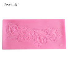 3D Leaf Flower Design Instant Fondant Silicone Lace Mold Gift Bakeware Chocolate Mold Baking Tool Gift Decorating Tools 50-143(China)