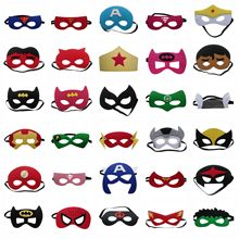 Halloween Mask Christmas Anime Super Hero Masquerade Mask Party Supplies Birthday Party Decorations Kids