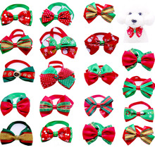 DHL Wholease 500pcs Cats Dog Christmas bow Tie Dogs Bowtie Neckties Collar Accessories Holiday Decoration Grooming Pet Supplies