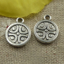 225 pieces tibetan silver nice charms 16x13x1.5mm #4401