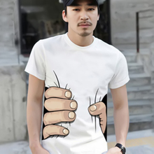 2017 Summer Brand New Men 3D Big Hand Short Sleeve Cotton T Shirt Breathable O Neck Fashion Tops Tee Funny Tshirt homme Cheap Z2