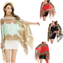 2016 Hot Women Fashion Large Chiffon Sunscreen Summer Long Soft Scarves Shawl Neck Wrap Scarf Stole Scarves Beachwear