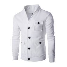 New Arrival Autumn Winter Men's jackets V Neck Pockets Slim fitness Coat Buttons Casual Outer wears Cotton Plus size M-2XL MQ393(China)