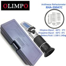 olimpo RHA-200ATC Antifreeze Tester Glycol Percentage with 'C Celsius Car Bettery Fluid  Automotive Tester with Plastic Box ATC