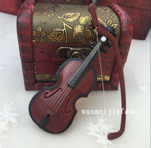 mini violin For BJD 1/12 1/8 1/6 1/4  1/3 Doll  Accessories  photography tool