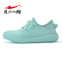 Beita 2017 Sequined design Sneakers women athletic shoes High upper Breathable AIR Mesh Running shoes Outdoor Walking shoes
