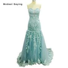 Real Green Sexy Mermaid Sweetheart Beaded Lace Evening Dresses 2017  Rhinestone Engagement Long Prom Gown vestidos de festa BE103 6037fdaab590