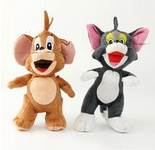 1pcs 25cm Classic Cartoon Tom and Jerry Plush Toys Tom Cat & Jerry Mouse Plush Soft Stuffed Animals Toys Doll for Children Gifts(China)