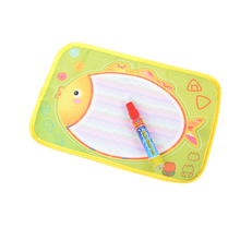 Interesting 1PCS 29x19cm Baby Colorful Fish design Water Doodle Drawing board Baby play Water mat Toys With Magic Pen(China)