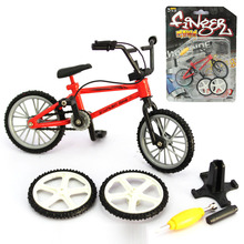 Alloy Mini Finger BMX Toys Hand Mountain Bike Model with Spare Tire Tools Bicycle Kids Toy Random Color