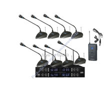 High-End MICWL 8x50 adjustable Channel UHF Wireless Conference Microphones System 8 Gooseneck Desk and 1 spare Bodypack Lavalier(China)